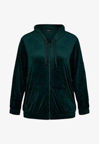 Zizzi - SAMT - Zip-up hoodie - dark green - 4