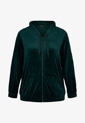 SAMT - Zip-up hoodie - dark green