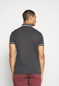 Brave Soul - VIRGIL - Polo shirt - dark charcoal marl/optic white - 2