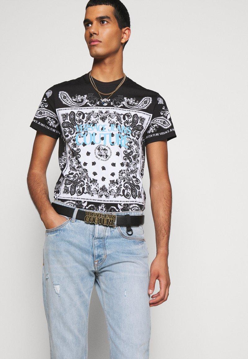 Versace Jeans Couture - Pasek - black/gunmetal