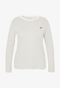 Levi's® Plus - BABY TEE - Long sleeved top - ecru/black - 3