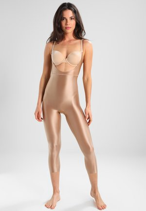 SUIT YOUR FANCY OPEN BUST CATSUIT - Body - beige