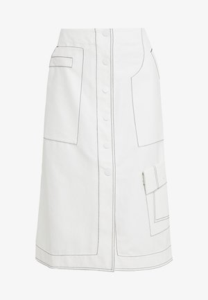 HIGH WAISTED SKIRT - A-snit nederdel/ A-formede nederdele - off-whit