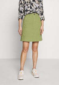 Marc O'Polo - SKIRT CHINO STYLE SHORT LENGTH - A-line skirt - seaweed green - 0