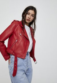 PULL&BEAR - Faux leather jacket - metallic red - 3