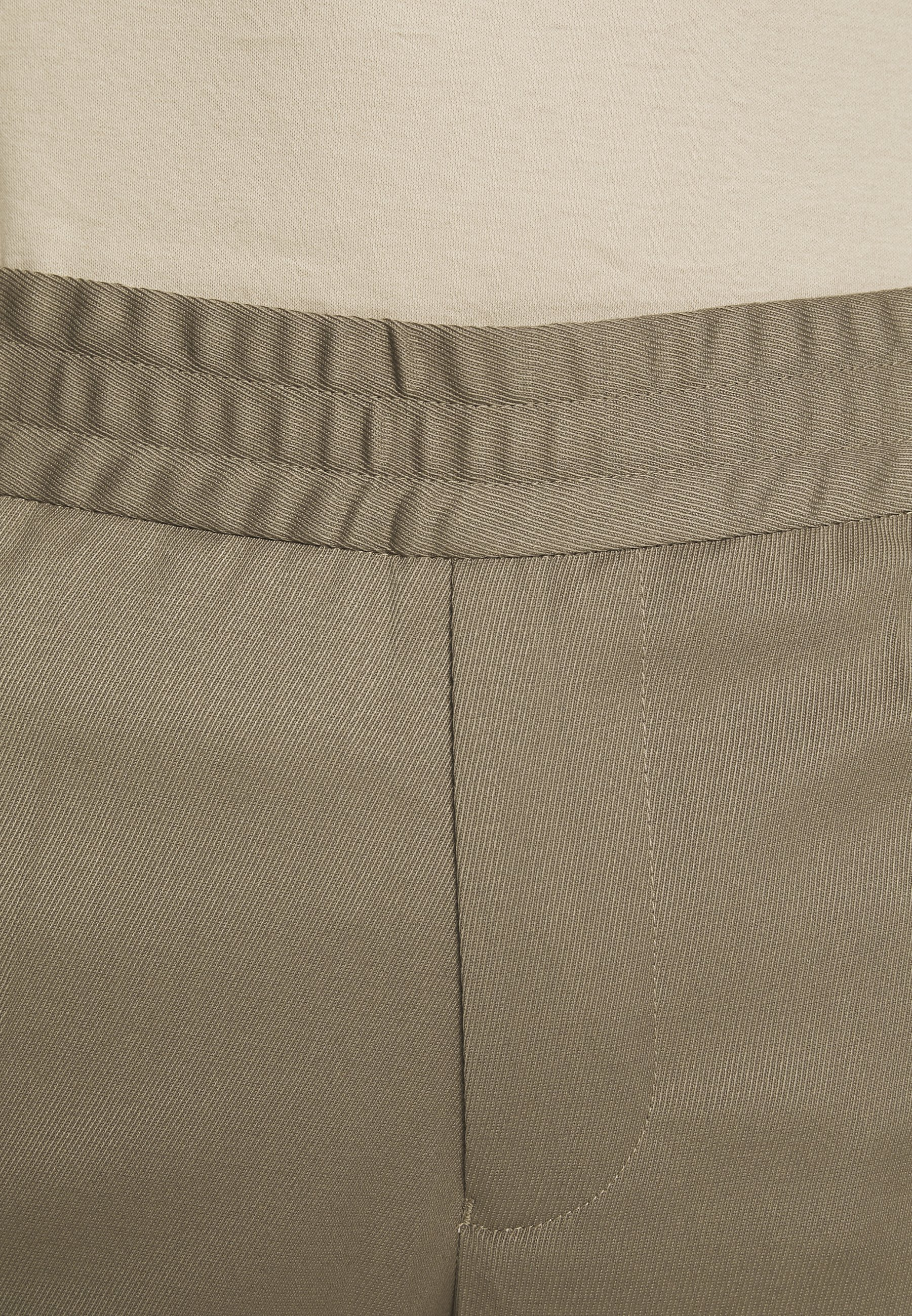 Filippa K TERRY CROPPED PANTS - Pantalon classique - grey taupe