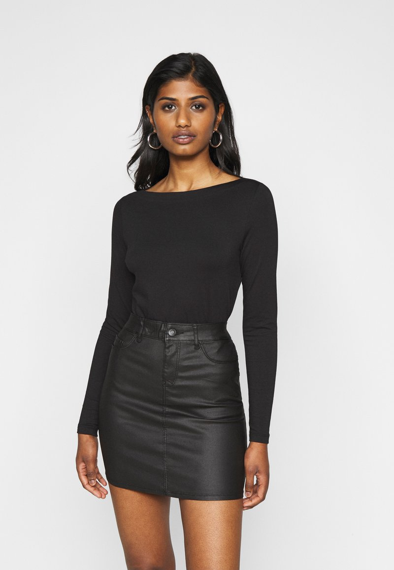 Vero Moda Petite - VMPANDA  - Top sdlouhým rukávem - black