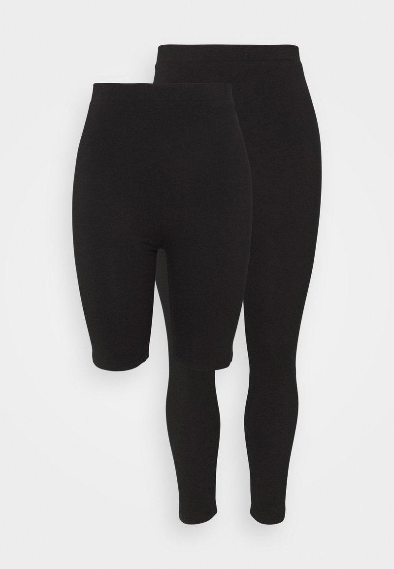 Even&Odd Curvy - SET - Shortsit - black/black