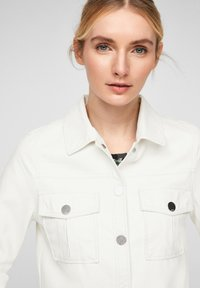 QS by s.Oliver - Faux leather jacket - cream - 5