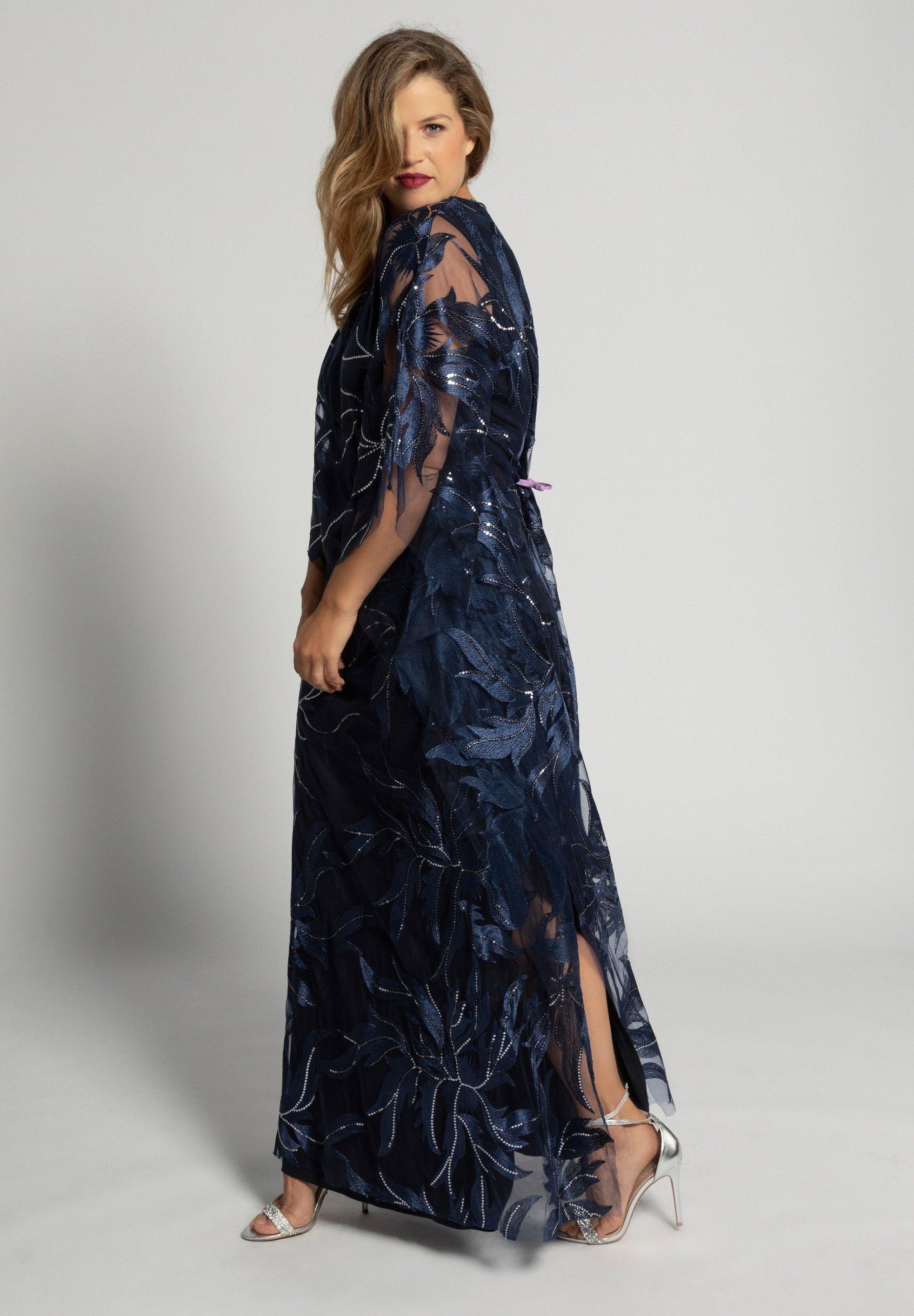 ulla damen grosse grÖssen - cocktailkleid/festliches kleid - violettblau