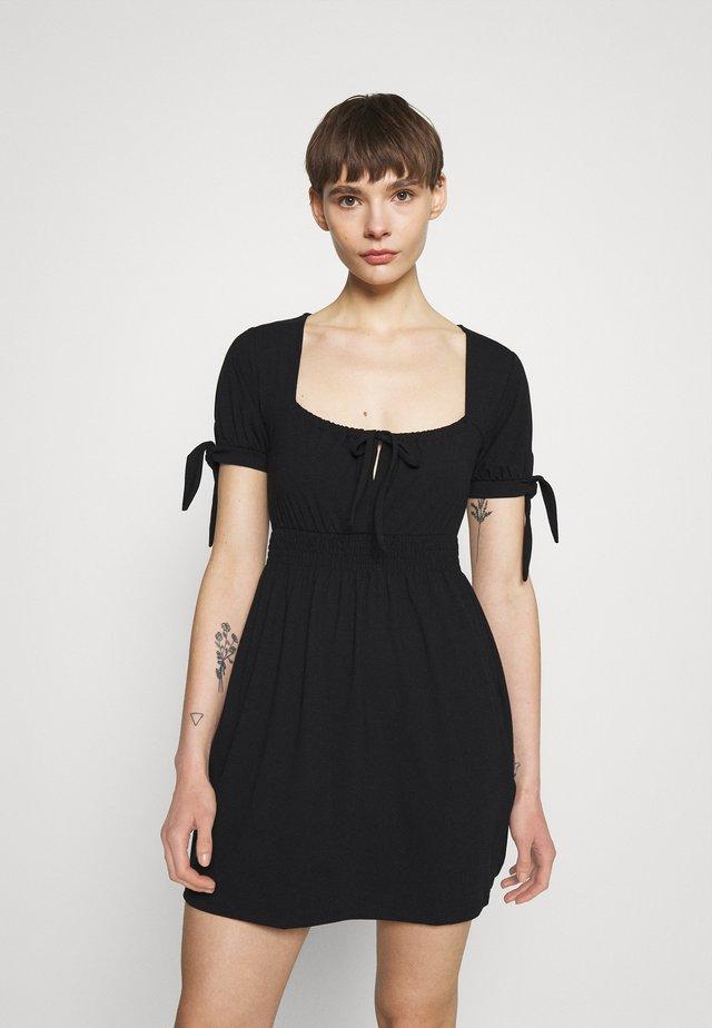 PAMELA REIF X ZALANDO RUCHED DETAIL MINI DRESS - Jerseykleid - black