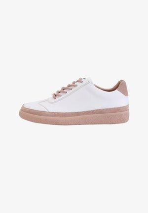 Sneakers laag - weiß-tawny