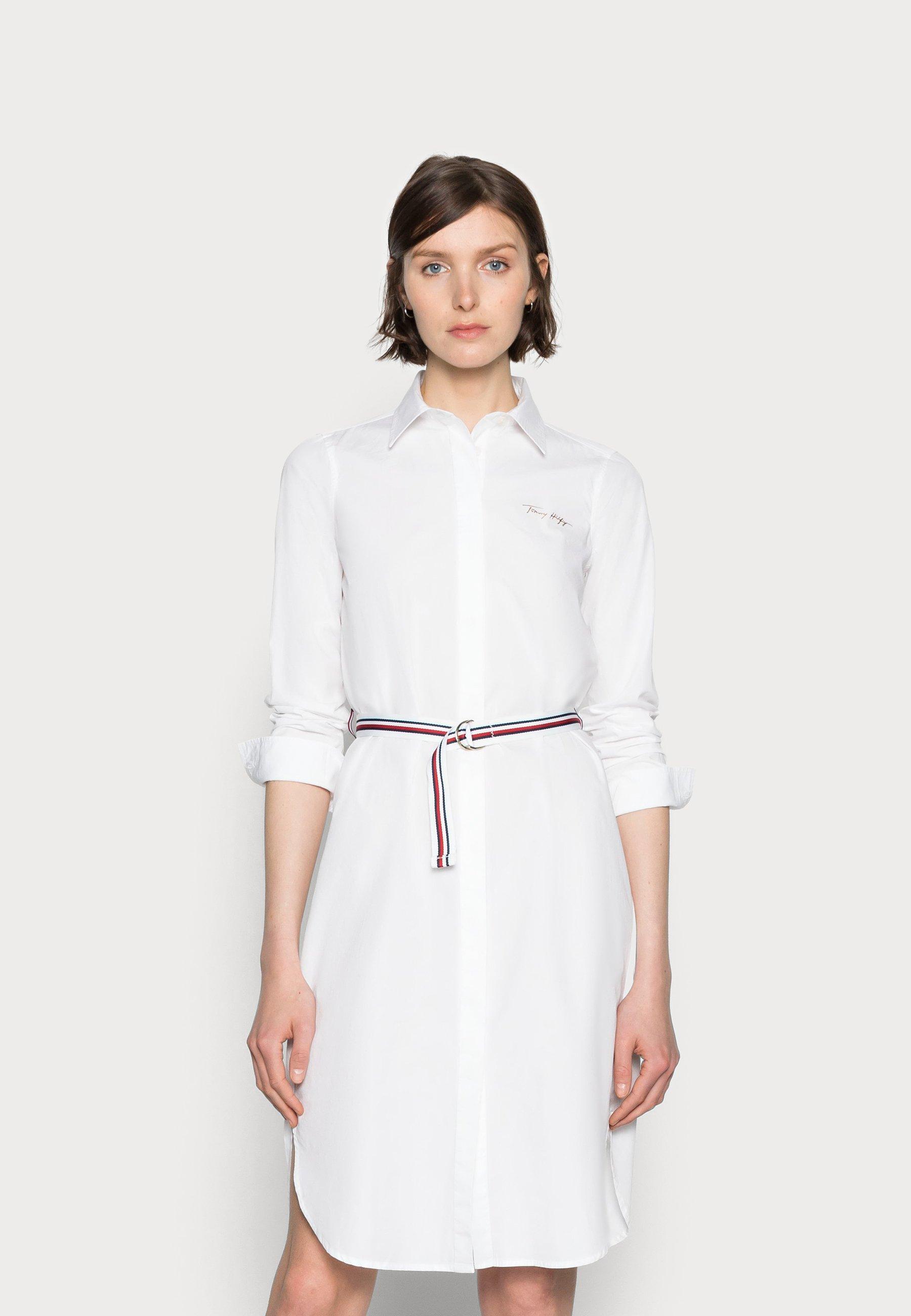 Damen BELTED MIDI SHIRT DRESS - Blusenkleid