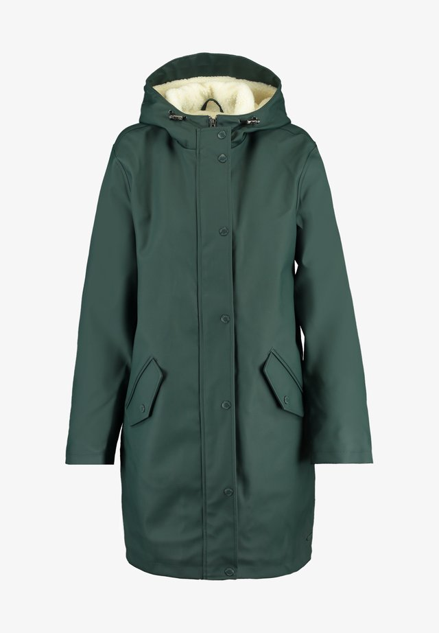 JANICE TEDDY - Waterproof jacket - hard green