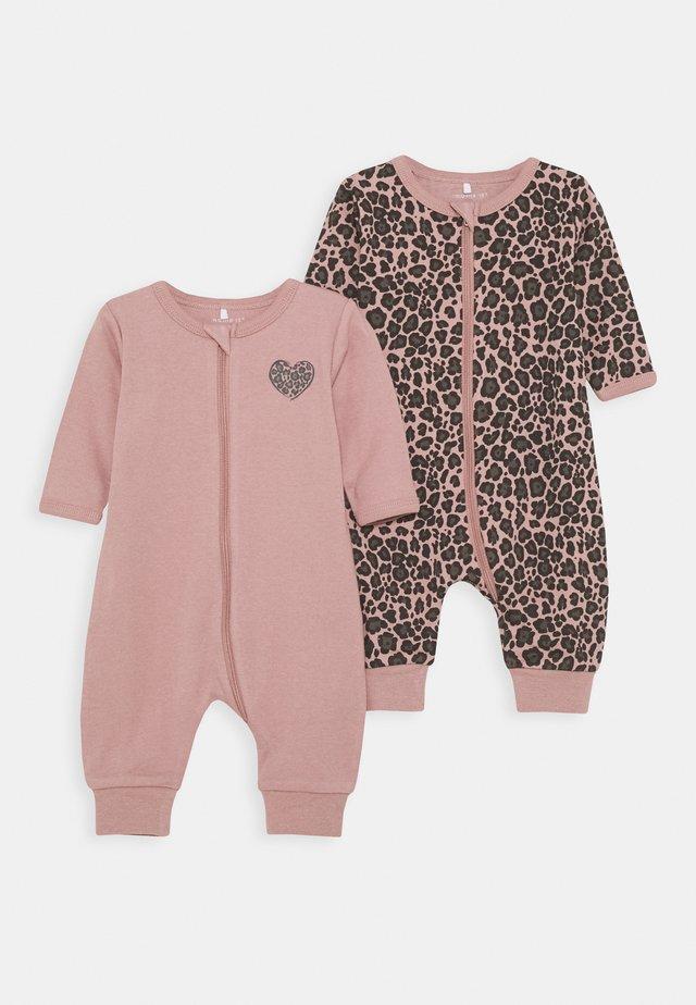 NBFNIGHTSUIT ZIP 2 PACK - Pyjamas - woodrose