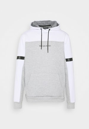 FULHAM - Sweat à capuche - optic white /grey marl / jet black