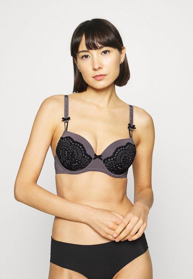 PADDED BRA - Underwired bra - grey/black