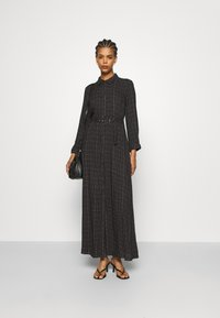 YAS - YASSAVANNA BELT ANKLE DRESS - Maxi dress - black/light taupe - 1