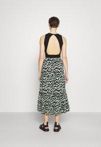 ONLY - ONLPELLA SKIRT - Maxi skirt - black/green milieu - 2