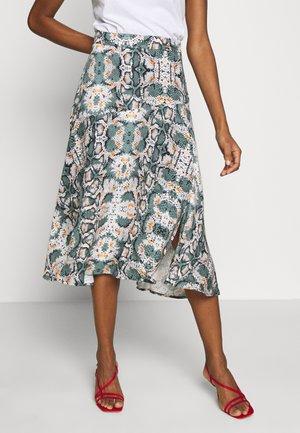 TANIRA - A-line skirt - light steel green