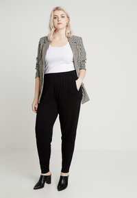 CAPSULE by Simply Be - TAPERED TROUSERS - Trousers - black - 1