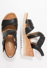 Gabor Comfort - Platform sandals - schwarz - 3