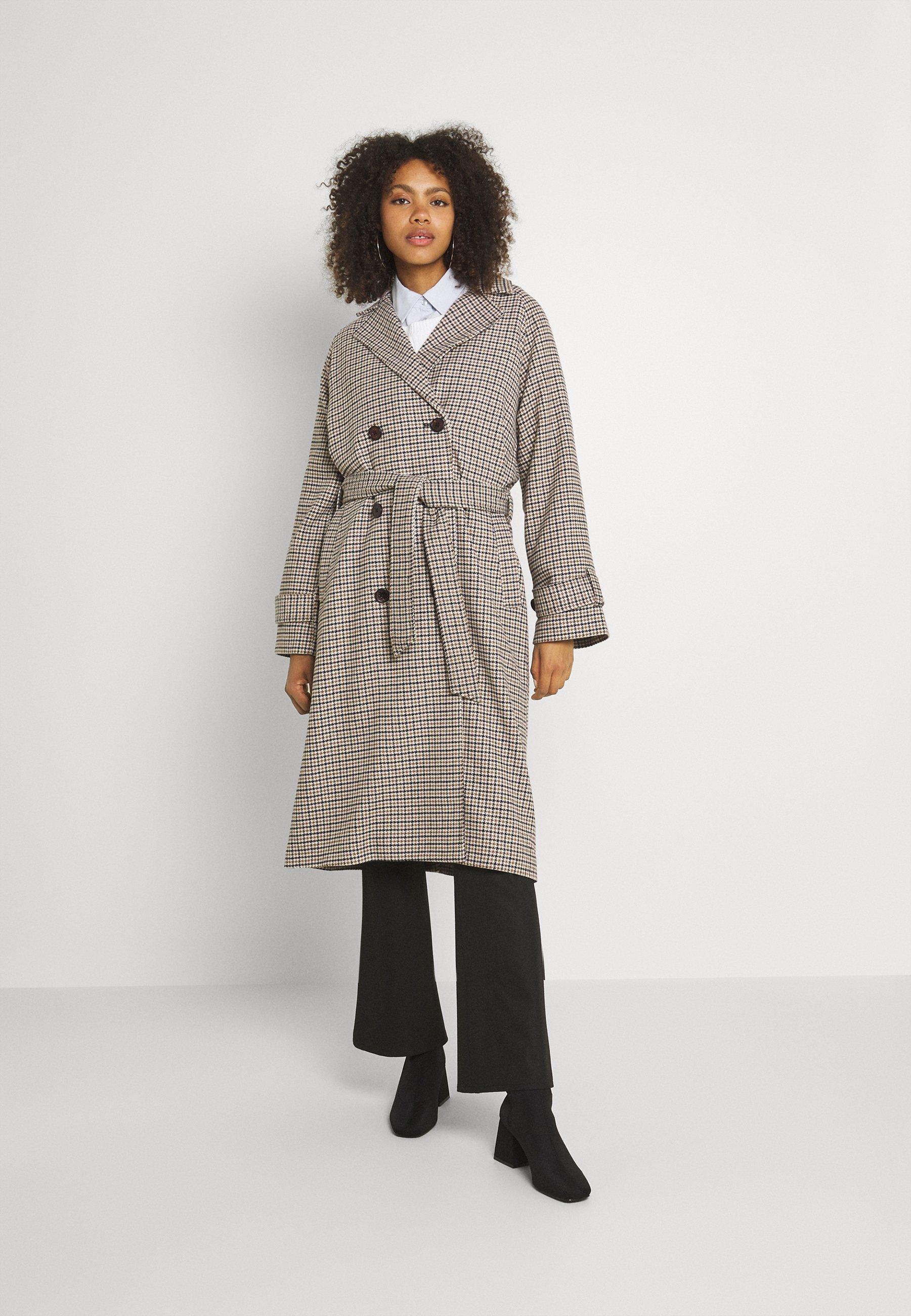 Women OBJKEILY COAT  - Classic coat - brown