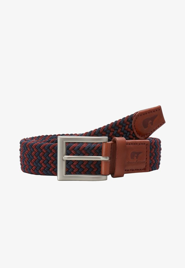 Braided belt - blue, bordeaux
