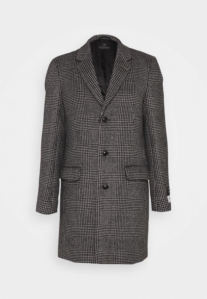 Scotch & Soda - CLASSIC - Classic coat - black/white
