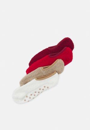 ONLINE WOMEN COSY SNEAKER 4 PACK - Sokken - red