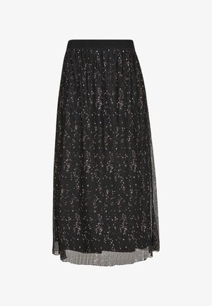 A-line skirt - black aop