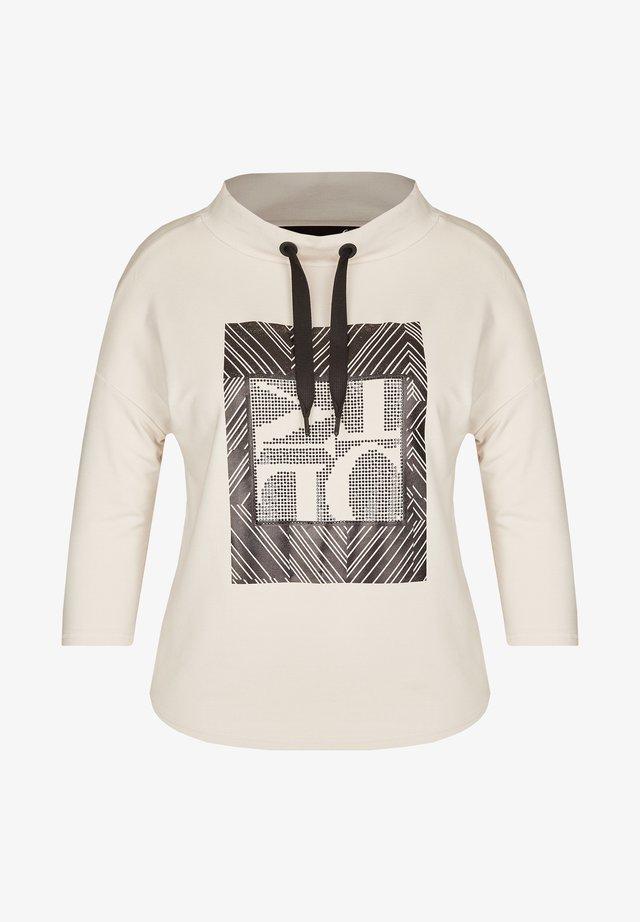 MIT ZIERSTEINCHEN - Long sleeved top - offwhite