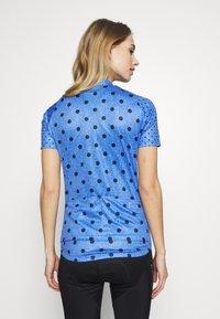 ODLO - STAND UP COLLAR FULL ZIP ELEMENT - T-Shirt print - amparo blue melange/diving navy - 2