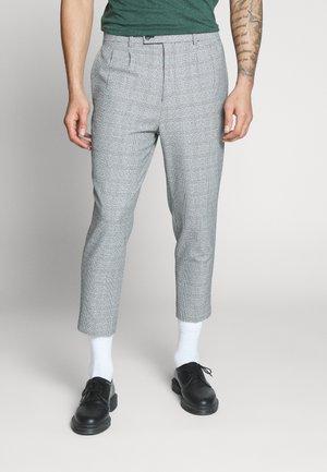 CHECK - Pantaloni - black/white