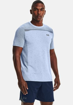 SEAMLESS SS - Print T-shirt - isotope blue