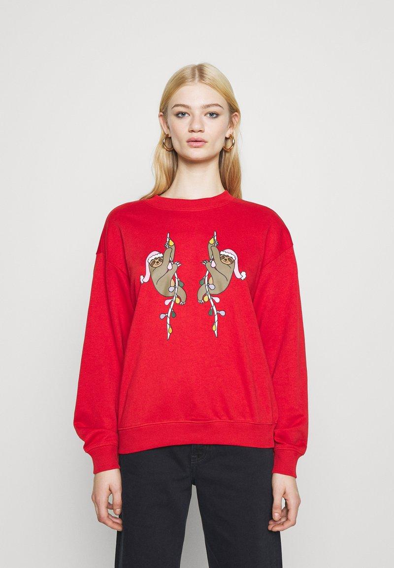 Monki - Sweatshirt - red
