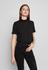 Even&Odd Tall - WITH WIDE COLLAR - Basic T-shirt - black - 0