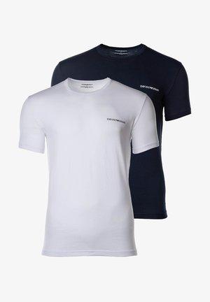 2PACK - Basic T-shirt - marine/weiß