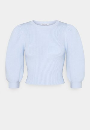 PUFF SLEEVE JUMPER - Jumper - pale blue