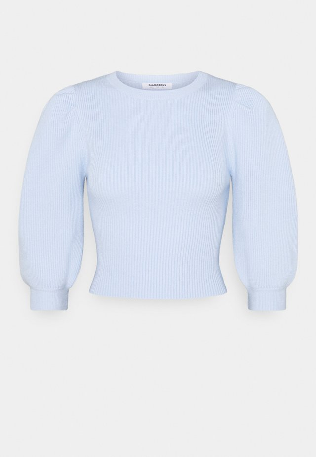 PUFF SLEEVE JUMPER - Sweter - pale blue