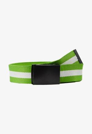 COATED BUCKLE BELT - Belt - black/neon green