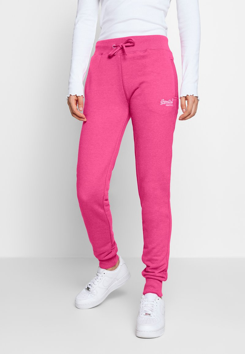 Superdry - Tracksuit bottoms - fluro pink