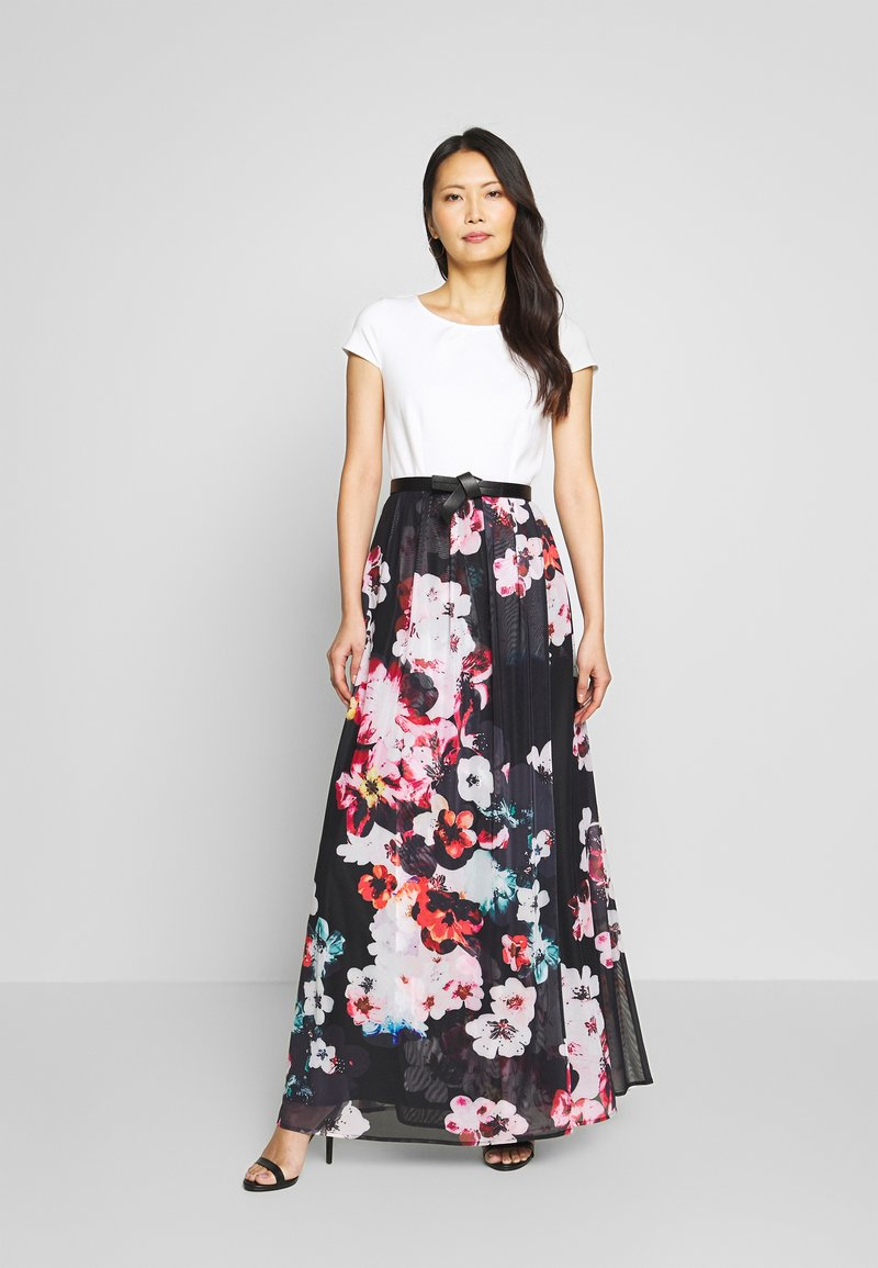 Apart - PRINTED DRESS - Maksimekko - black/multicolor