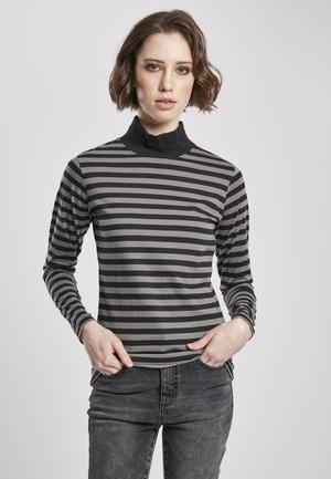 Long sleeved top - asphalt/black