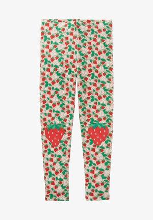 MIT APPLIKATION - Leggings - Trousers - rosa filigranes erdbeermuster