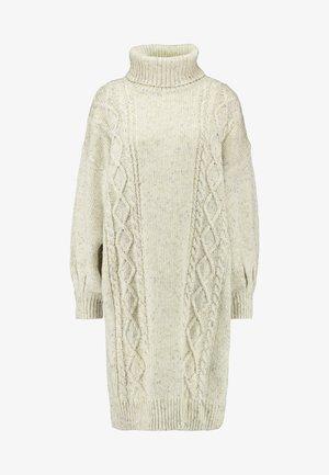 VALDA CABLE - Strikket kjole - white