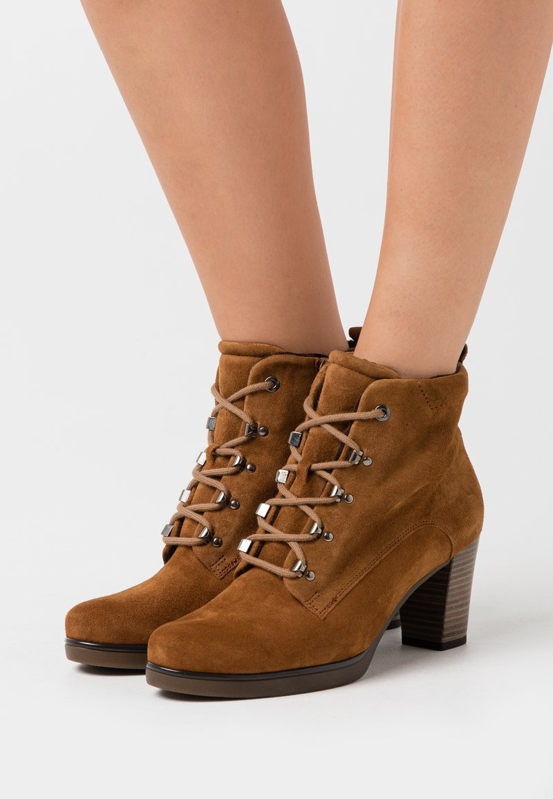 Gabor Comfort - Lace-up ankle boots - deer