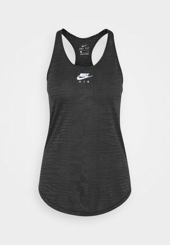 AIR TANK - T-shirt sportiva - black/iron grey/silver