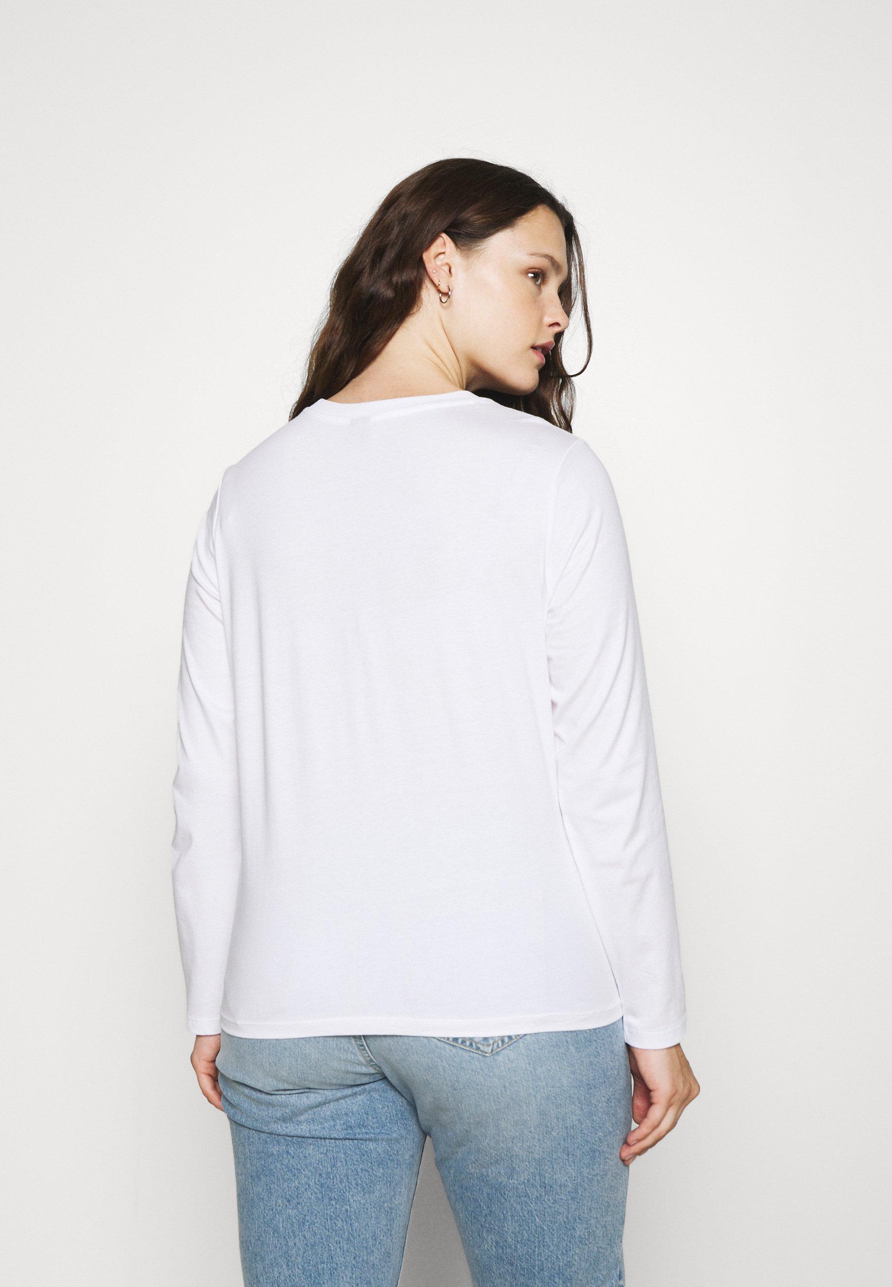 Women PCRIA SOLID TEE 2 PACK  - Long sleeved top