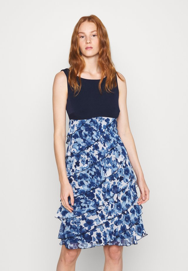 DRESS - Cocktailjurk - navy/ecru